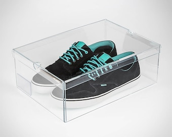 Acrylic Shoe Box | Perspex Shoe Container | Shoe Display | Premium Perspex Acrylic | Made in the UK