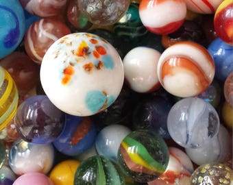 Vintage Marbles- lot of 25 of various designs,style and sizes