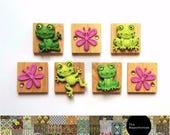 Frog Fridge Magnet Set