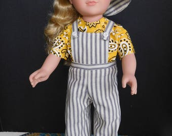 Overall set for American Girl Doll