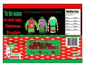 Christmas Inspire Chip Bag/ Treat Bag