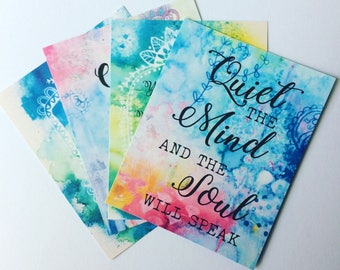 Creating Calm - set of 4 journalling cards