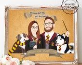Custom Portrait Movie Harry Potter Themed