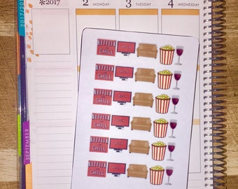 Netflix and Chill Planner Stickers