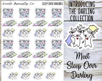 Sleep Over Darlings Planner Stickers