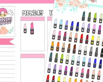 Icon Lipstick Stickers (06)