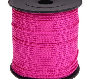 Pacifier Fuchsia 1.5 MM 5 M extremely durable polyester thread cord, perfect for pacifier, rattle, door keys, clip blanket