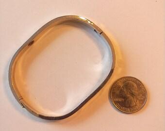Vintage Sterling Silver Thick Bracelet