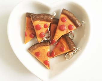 Pizza Slice Polymer Clay Charms
