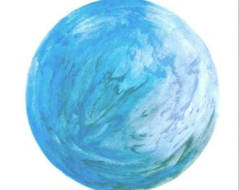 Round abstract fat chalk drawing