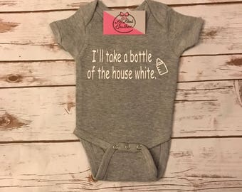 I'll take a bottle of house white onesie - house white bodysuit -baby girl - baby boy - neutral baby shower gift - neutral baby gift