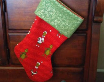 Grinch Christmas Stocking