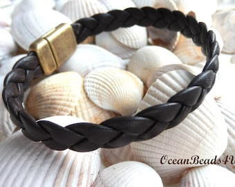 Unisex Brown Braided Bracelet A , Unisex Bracelet,  Armband, Leather bracelet, Men's bracelet, Men's jewelry