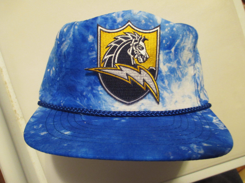 Vintage 80s 90s SAN DIEGO CHARGERS Strapback Hat script la snapback  specialties sports raiders acid stone 56a52f9d9