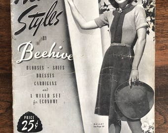 "Beehive Pattern Booklet, ""New Styles"", Issue No. 034, Vintage"