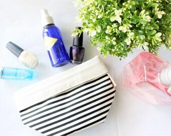 Makeup Organizer, Toiletries Bag, Planter, Diaper Basket, Toys, Stationaries, Storage, Multi purpose, Organizer, Stripe, Monochrome