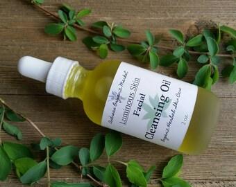 Organic Facial Cleansing Oil, Organic Make up Remover, Herbal Face Cleanser, Vegan Facial Care, Cleansing Facial Serum, Organic Skin Care