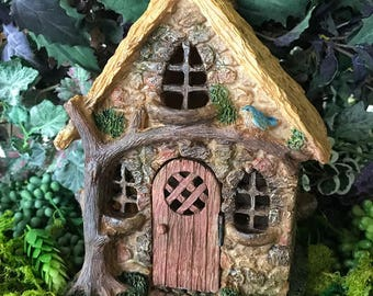 Miniature Fairy English Tree Cottage