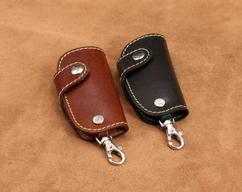 Leather Key Chain Key Holder Leather Key Chain Key Ring Gift for Men Him