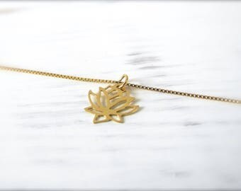 Lotus Flower | Necklace | Gold