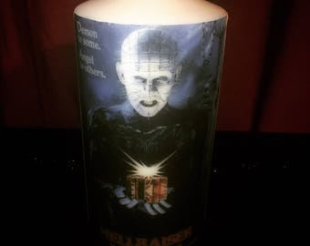 Hellraiser Poster Candle