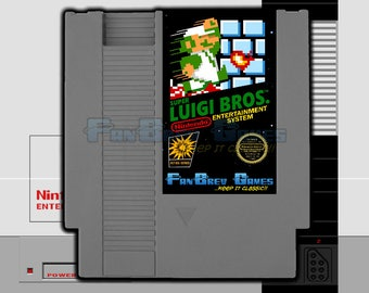 "SPECIAL ORDER! ""Super Luigi Bros."" Nintendo NES Hack New Levels!  Awesome!"