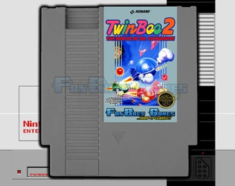 "SPECIAL ORDER! ""TwinBee 2: Rescue Of Dr. Cinnamon"" Unreleased English Translation Nintendo NES!"