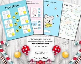 Cats Educational printables games for preschool kids Motor skills Preschool Science Curriculum Kindergarten Worksheets Activities Clever