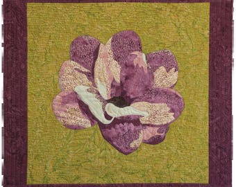 Magnolia:  fusible applique quilt 45 x 47 inches.