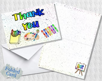Art Thank You; Folded Card; Postcard; PDF; E-Card