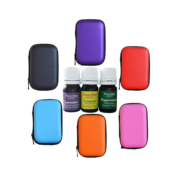 3 Daily Essential Oils 5ml Lemon Lavender & Peppermint w/carrying case US Seller