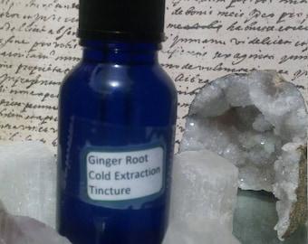 Organic Ginger Root Digestive Tincture 1/2 oz bottle
