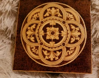 Meditated, A Hand Burned and Lined Wooden Box