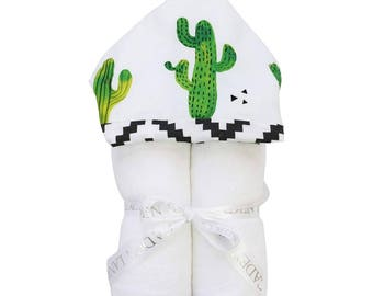 Prickly Cactus | Full Size Toddler Hooded Towel | Tribal Cactus | Baby Shower Gift | Gender Neutral Shower Gift
