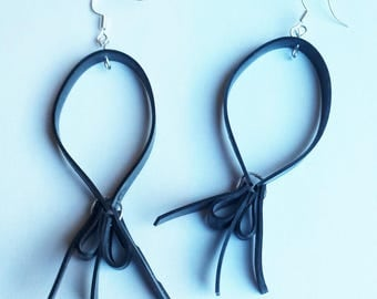 Earrings bicycle inner tube recycled balloons