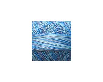 Lizbeth Thread Size 10 Variegated: #185 Arctic Waters
