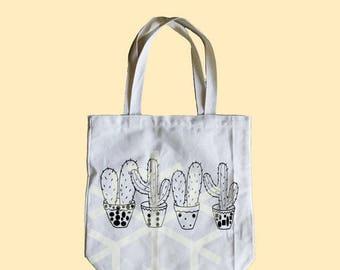 Cactus bag Medium tote bag 13x13x3 inches ECO-tote bag