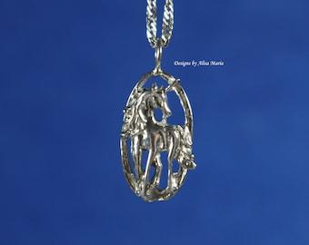 Handmade 925 Sterling Silver Unicorn Pendant #18-47