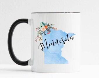 Minnesota Mug / Personalized Mug / Custom State Mug / Friend Gift / Minnesota Gift /  11 or 15 oz / Going Away Gift / Moving Gift