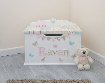personalized toy box etsy