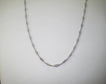 S-7 Vintage Necklace choker size  925   silver