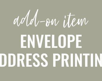 Envelope Address Printing / STATIONERY ADD-ON Item