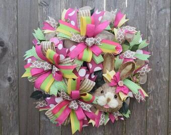 Easter Wreath, Bunny Wreath, Spring Wreath