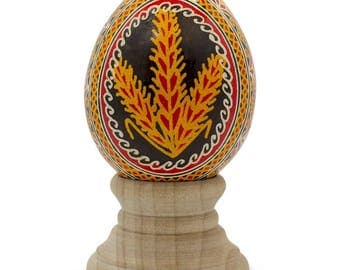 Real Chicken Eggshell Hand Decorated Ukrainian Easter Egg Pysanky