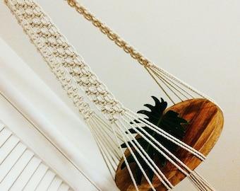 Macrame hanging table, macrame, handmade