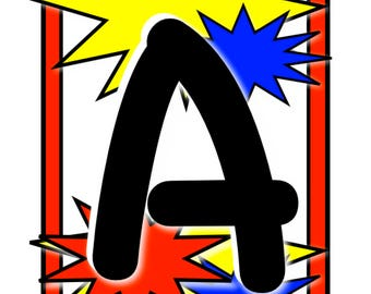 ABC's Super Hero Style!  Decorate your child's room with the ABC's, make a banner or create a name with this SUPER alphabet.