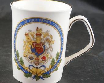 ELIZABETHANBone China Mug to Comemmorate wedding of Prince Charles and Lady Diana in 1981
