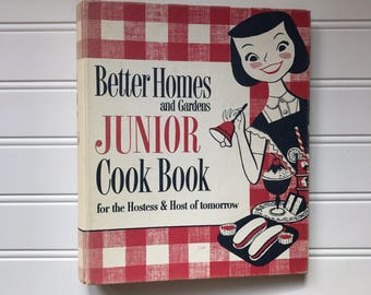 free domestic shipping--Better Homes and Gardens Junior Cook Book 1955 First Edition