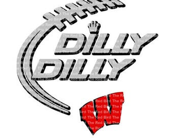 Dilly Dilly W Wildcats Wisconsin Badgers funny printable Digital download cut file  SVG, DXF, PNG, EpS, PdF