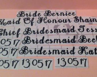 Wedding Hanger Vinyls role/name/date